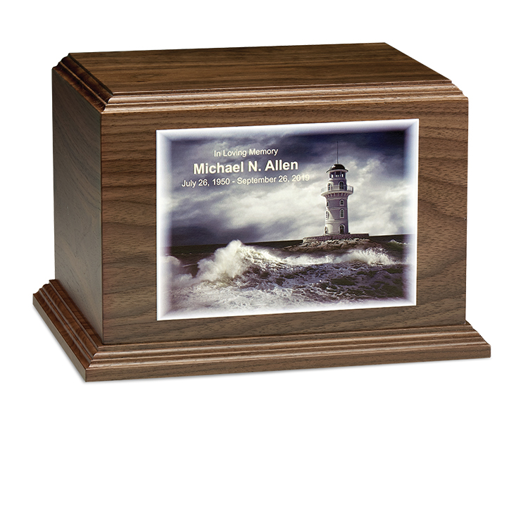 DWC01781 - URN - CUSTOM PHOTO HORIZONTAL : Colored Texture Printing